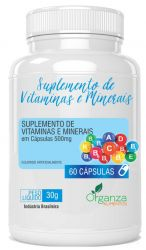 SUPLEMENTO DE VITAMINAS E MINERAIS - 60 CPS